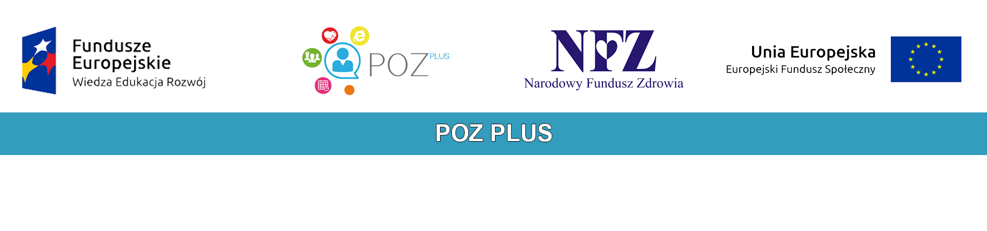 Logo projektu unijnego - POZ PLUS